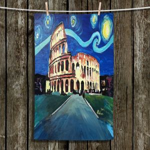 Unique Hanging Tea Towels | Markus Bleichner - Starry Night Rome Colloseum | Rome Starry Night Colloseum