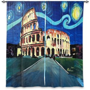 Decorative Window Treatments | Markus Bleichner - Starry Night Rome Colloseum | Rome Starry Night Colloseum