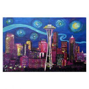 Decorative Floor Coverings | Markus Bleichner - Starry Night Seattle | Starry Night Seattle Space Needle