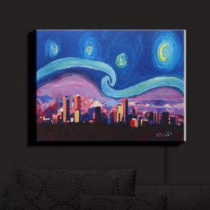 Nightlight Sconce Canvas Light | Markus Bleichner - Starry Night Denver