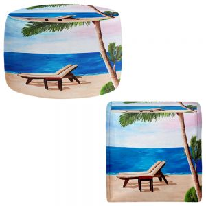 Round and Square Ottoman Foot Stools   Markus Bleichner - Strand Chairs on Caribbean