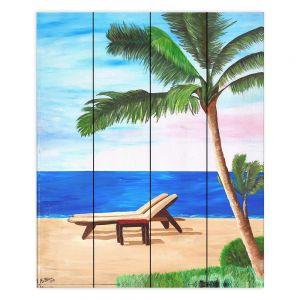 Decorative Wood Plank Wall Art | Markus Bleichner Strand Chairs on Caribbean