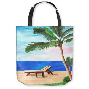 Unique Shoulder Bag Tote Bags | Markus Bleichner Strand Chairs on Caribbean