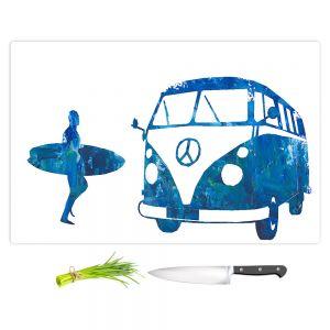 Artistic Kitchen Bar Cutting Boards | Markus Bleichner - Surf Bus Blue 1 | vw volkswagon surfing surfboard