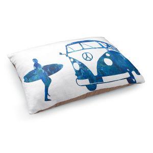 Decorative Dog Pet Beds   Markus Bleichner - Surf Bus Blue 1   vw volkswagon surfing surfboard