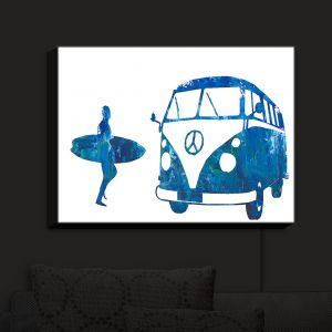 Nightlight Sconce Canvas Light | Markus Bleichner - Surf Bus Blue 1