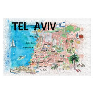 Decorative Floor Covering Mats | Markus Bleichner - Tel Aviv Israel Tourist 2 | Cities Maps Travel