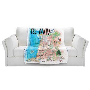 Artistic Sherpa Pile Blankets | Markus Bleichner - Tel Aviv Israel Tourist 2 | Cities Maps Travel