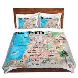 Artistic Duvet Covers and Shams Bedding | Markus Bleichner - Tel Aviv Israel Tourist 2 | Cities Maps Travel
