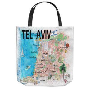 Unique Shoulder Bag Tote Bags   Markus Bleichner - Tel Aviv Israel Tourist 2   Cities Maps Travel