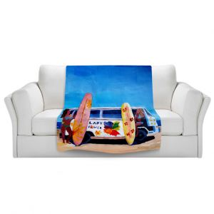 Artistic Sherpa Pile Blankets | Markus Bleichner The Lady Power VW Bus