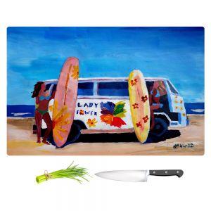 Artistic Kitchen Bar Cutting Boards | Markus Bleichner - The Lady Power VW Bus
