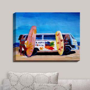 Decorative Canvas Wall Art | Markus Bleichner - The Lady Power VW Bus