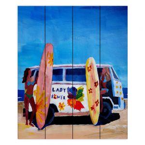 Decorative Wood Plank Wall Art | Markus Bleichner The Lady Power VW Bus