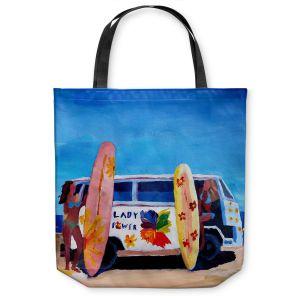 Unique Shoulder Bag Tote Bags | Markus Bleichner The Lady Power VW Bus