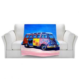 Artistic Sherpa Pile Blankets | Markus Bleichner The Love VW Bus