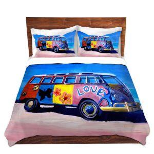 Artistic Duvet Covers and Shams Bedding   Markus Bleichner - The Love VW Bus