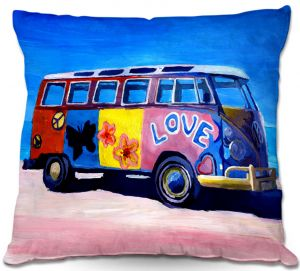 Decorative Outdoor Patio Pillow Cushion | Markus Bleichner - The Love VW Bus