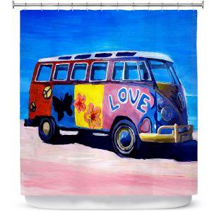 Premium Shower Curtains | Markus Bleichner The Love VW Bus