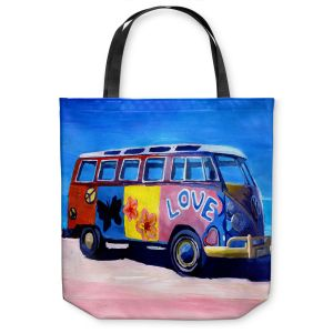 Unique Shoulder Bag Tote Bags | Markus Bleichner The Love VW Bus