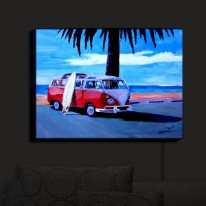 Unique Illuminated Wall Art 20 x 16 from DiaNoche Designs by Markus Bleichner - The Red Bus