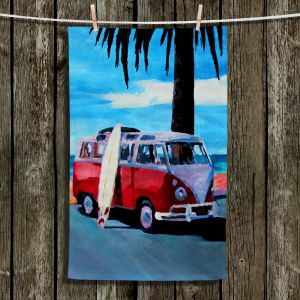 Unique Hanging Tea Towels | Markus Bleichner - The Red Bus | Beach Volkswagon Bus