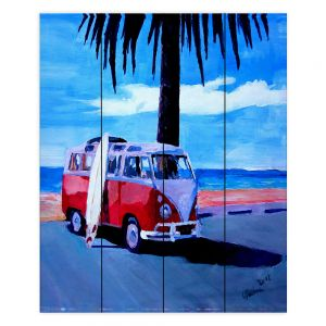 Decorative Wood Plank Wall Art | Markus Bleichner The Red Bus