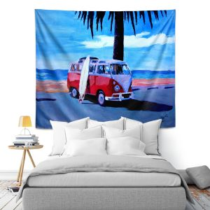 Artistic Wall Tapestry | Markus Bleichner The Red Bus