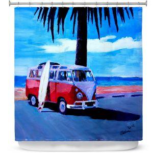 Premium Shower Curtains | Markus Bleichner The Red Bus