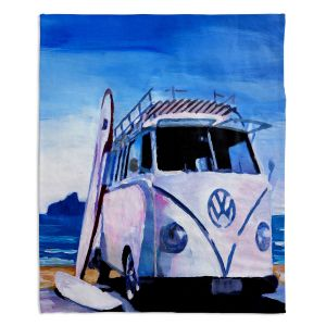 Decorative Fleece Throw Blankets | Markus Bleichner - The White VW Bus