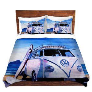 Artistic Duvet Covers and Shams Bedding | Markus Bleichner - The White VW Bus