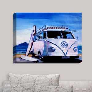 Decorative Canvas Wall Art | Markus Bleichner - The White VW Bus