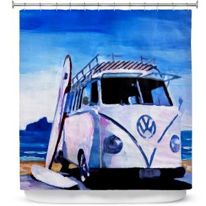 Premium Shower Curtains | Markus Bleichner The White VW Bus
