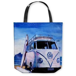 Unique Shoulder Bag Tote Bags | Markus Bleichner The White VW Bus