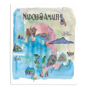 Decorative Fleece Throw Blankets   Markus Bleichner - Tourist Amalfi Italy   Italy vacation