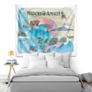 Artistic Wall Tapestry | Markus Bleichner - Tourist Amalfi Italy | Italy vacation