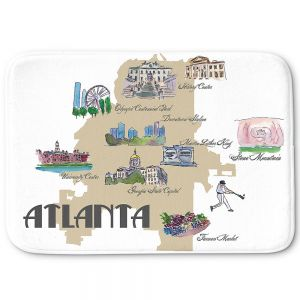 Decorative Bathroom Mats | Markus Bleichner - Tourist Atlanta | map georgia baseball