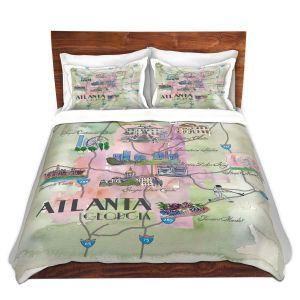Artistic Duvet Covers and Shams Bedding   Markus Bleichner - Tourist Atlanta 2   Tourist attractions Georgia