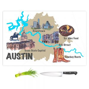 Artistic Kitchen Bar Cutting Boards | Markus Bleichner - Tourist Austin | map texas capitol