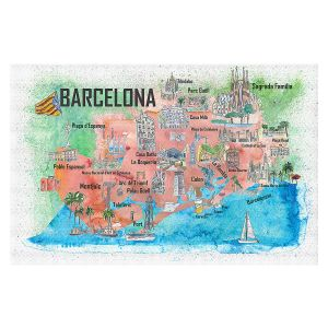 Decorative Floor Covering Mats | Markus Bleichner - Tourist Barcelona Catalonia | Cities Maps Travel