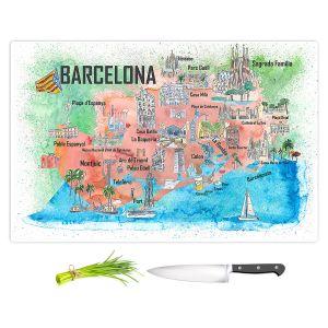 Artistic Kitchen Bar Cutting Boards | Markus Bleichner - Tourist Barcelona Catalonia | Cities Maps Travel