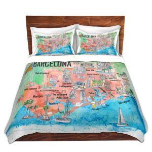 Artistic Duvet Covers and Shams Bedding | Markus Bleichner - Tourist Barcelona Catalonia | Cities Maps Travel