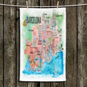 Unique Hanging Tea Towels | Markus Bleichner - Tourist Barcelona Catalonia | Cities Maps Travel
