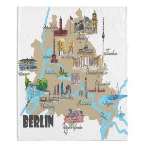 Decorative Fleece Throw Blankets | Markus Bleichner - Tourist Berlin | map germany