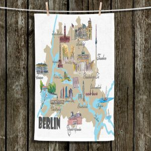 Unique Hanging Tea Towels | Markus Bleichner - Tourist Berlin | map germany