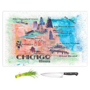 Artistic Kitchen Bar Cutting Boards | Markus Bleichner - Tourist Chicago 2 | Cities Maps Travel