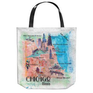 Unique Shoulder Bag Tote Bags   Markus Bleichner - Tourist Chicago 2   Cities Maps Travel