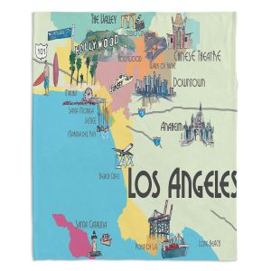 Artistic Sherpa Pile Blankets | Markus Bleichner - Tourist Lost Angeles | map california city