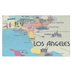 Artistic Pashmina Scarf | Markus Bleichner - Tourist Lost Angeles | map california city