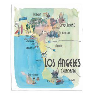 Decorative Fleece Throw Blankets   Markus Bleichner - Tourist Los Angeles 2   Tourist attractions California